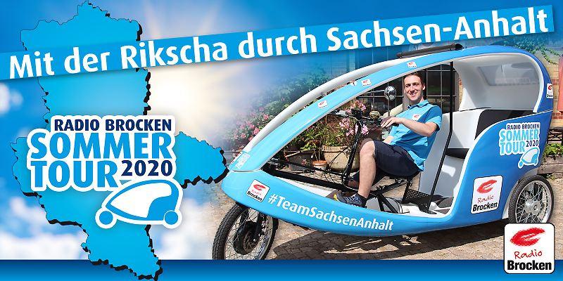 Die Radio Brocken Sommertour - Mit der Rikscha durch Sachsen-Anhalt